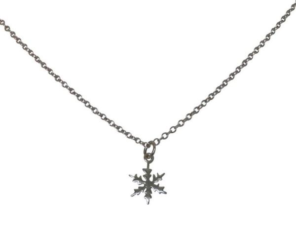 Necklace pendant SNOWFLAKE 925 silver 1 cm   Gemshine Schmuck