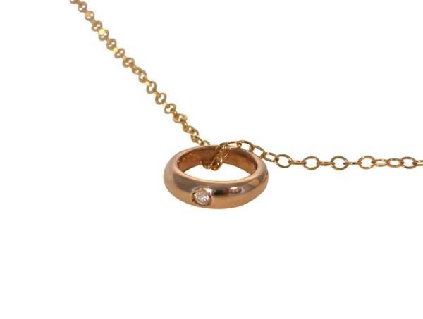 Child Necklace Christening Ring 925 Silver Rose Gold Plated Diamond Brilliant 45 cm   Gemshine Schmuck
