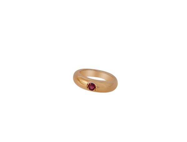 Child Necklace Christening 925 Silver Rose Gold Plated Ruby Red Brilliant 45 cm | Gemshine Schmuck