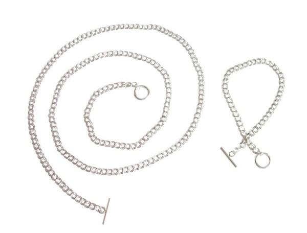 Necklace solid 925 silver 90 cm   Gemshine Schmuck