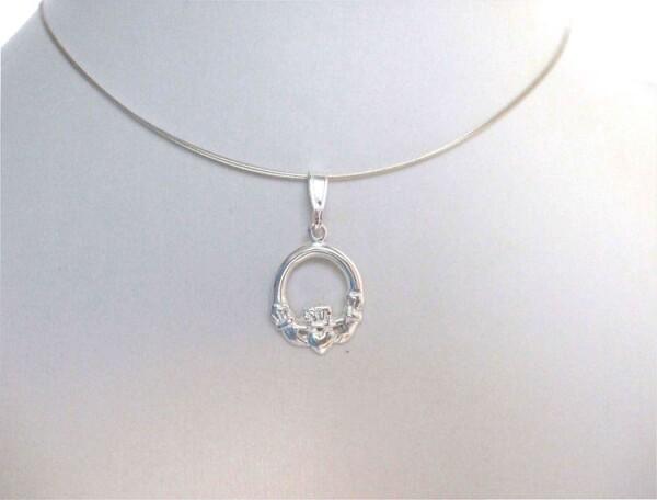 Pendant Claddagh Necklace 925 Silver   Gemshine Schmuck