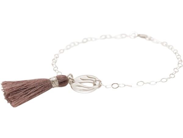 Bracelet 925 Silver Lotus Flower Tassel Rose YOGA | Gemshine Schmuck