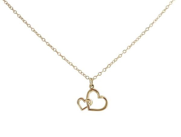 Heart Necklace Pendant 14k 585 Solid Gold 45 cm   Gemshine Schmuck