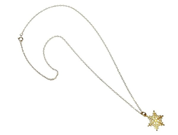 SNOWFLAKE Necklace 925 Sterling Silver Gilded 2 cm | Gemshine Schmuck