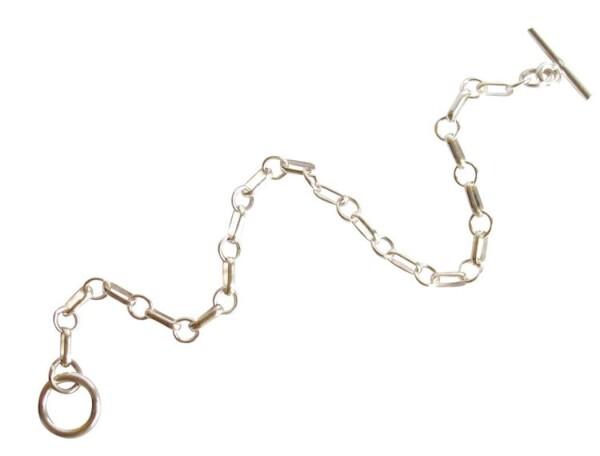 Unisex bracelet solid 925 silver 19 cm   Gemshine Schmuck