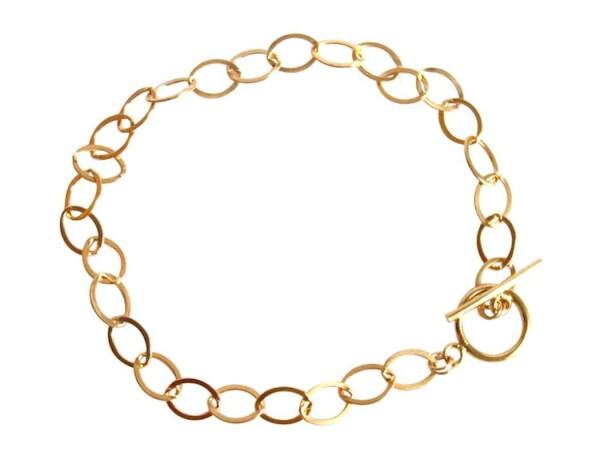 Unisex Bracelet Gold plated 19 cm | Gemshine Schmuck