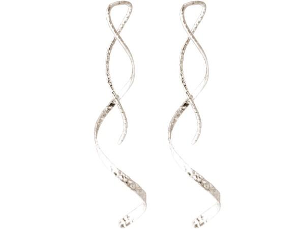 Earrings 925 silver hammered LOOP 5 cm | Gemshine Schmuck