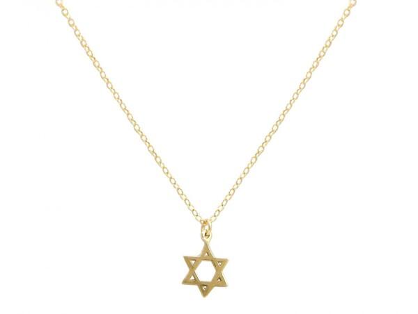 Unisex Pendant Star of David Necklace 925 Silver Plated 13 mm | Gemshine Schmuck