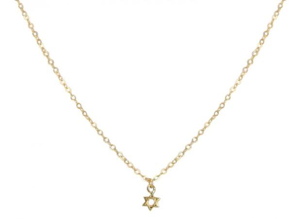 Unisex Pendant Star of David Necklace 925 Silver Plated 5 mm | Gemshine Schmuck