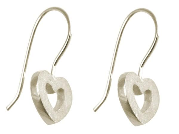 Heart earrings 925 silver 20mm | Gemshine Schmuck
