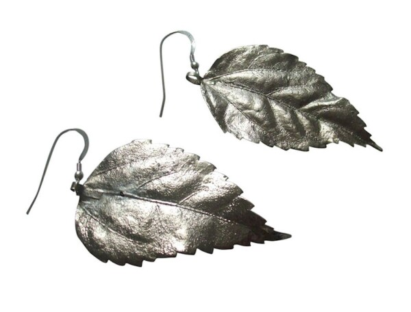 Earrings 925 silver leaf nature 6 cm | Gemshine Schmuck