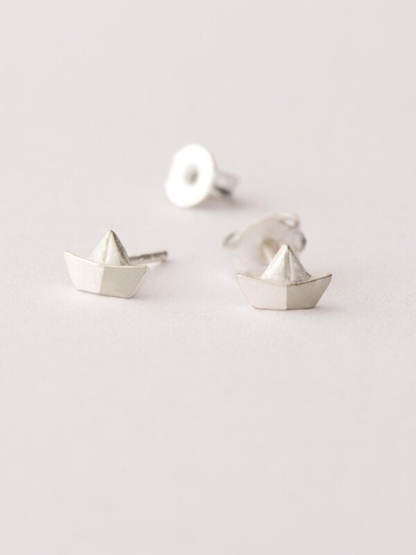 Earrings Paper ship-plated | Herzberg