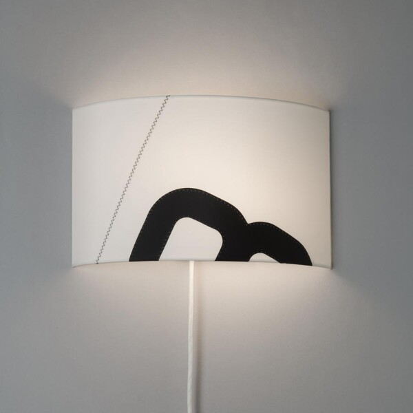 Maritime wall lamp home port of sail with textile cable | lumbono