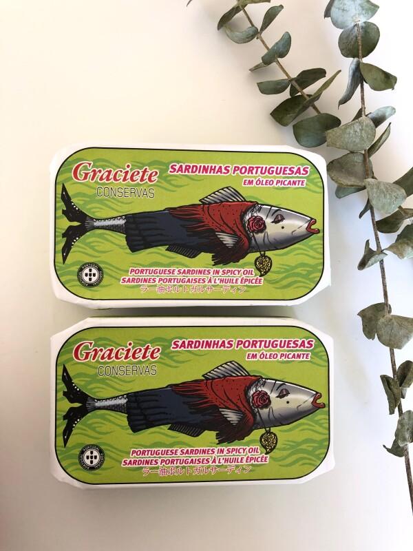 Portuguese Sardines in Spicy Olive Oil - Graciete   Loja PortugueZa da Baixa
