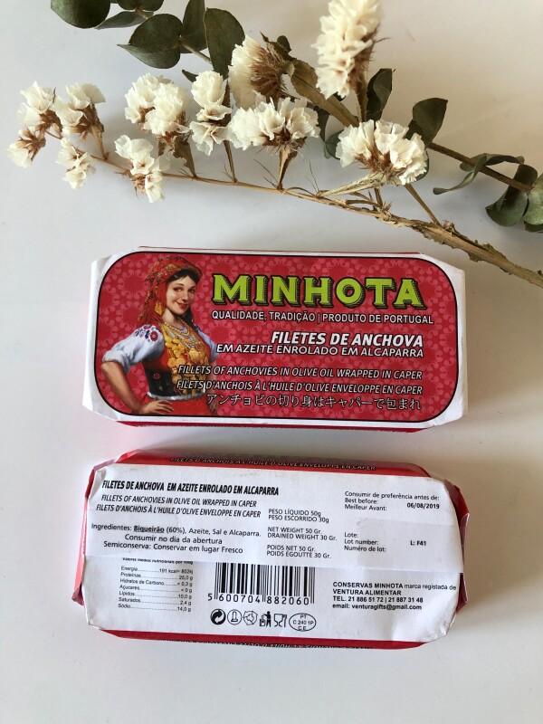 Fillets of Anchovas in Olive Oil Wrapped in Caper - Minhota | Loja PortugueZa da Baixa
