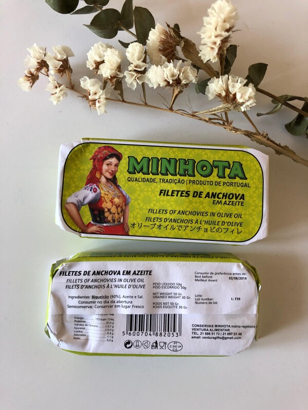Fillets of Anchovies in Olive Oil - Minhota | Loja PortugueZa da Baixa