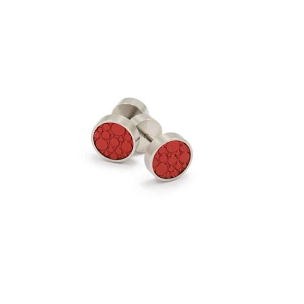 Earplug Kiss Aluminum Stainless Steel red | ringlein und noch mehr