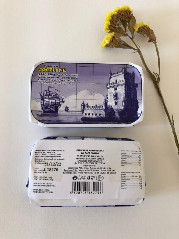 Portuguese Sardines in Vegetable Oil with Lemon - Jocelyne | Loja PortugueZa da Baixa