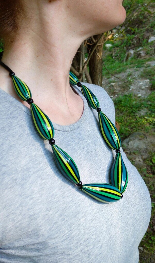 Murano Glass Blown Necklace