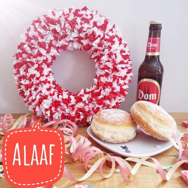 Kölle Aalaf carnival wreath | kirsch-grün