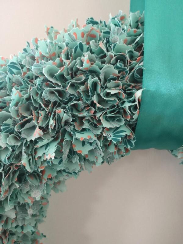 petrol colored decorative wreath | kirsch-grün