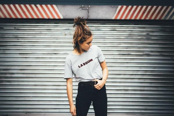 GMC T-Shirt LA BOUM gray / bordeaux | Magasin 2