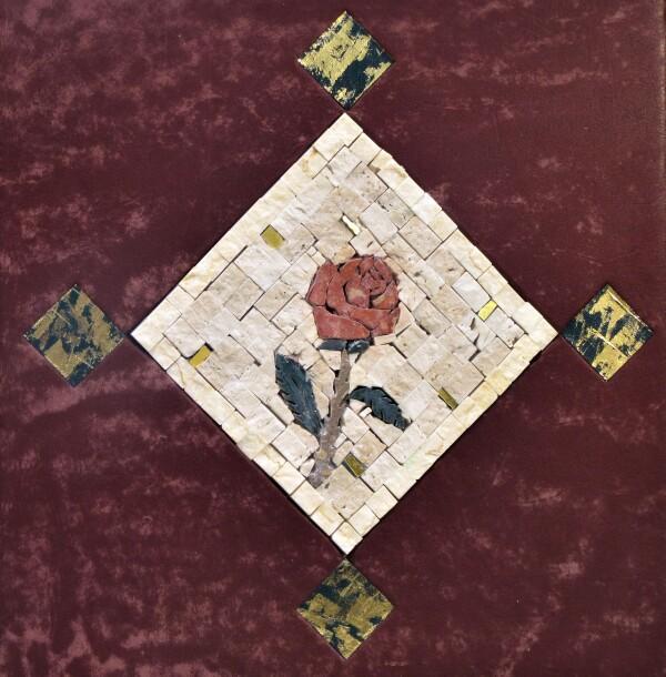 Photo album with stone mosaic for weddings