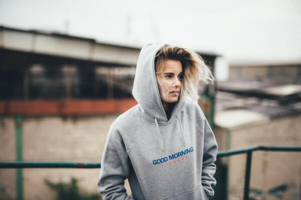 GMC Hoodie Unisex gray / blue | Magasin 2