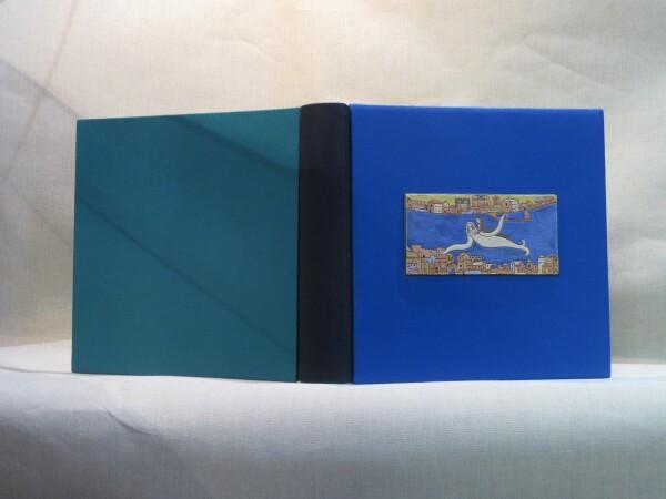 Photo album with ceramic insert for weddings