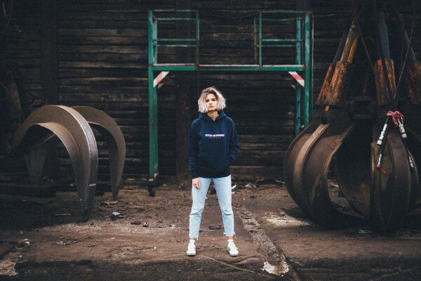 GMC Hoodie Unisex navy / white | Magasin 2