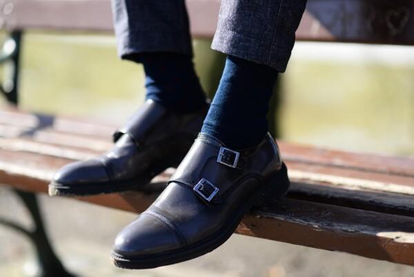 SOCKINGER BUSINESS long SOCK in navy blue   Sockinger-Die Sockenmanufaktur