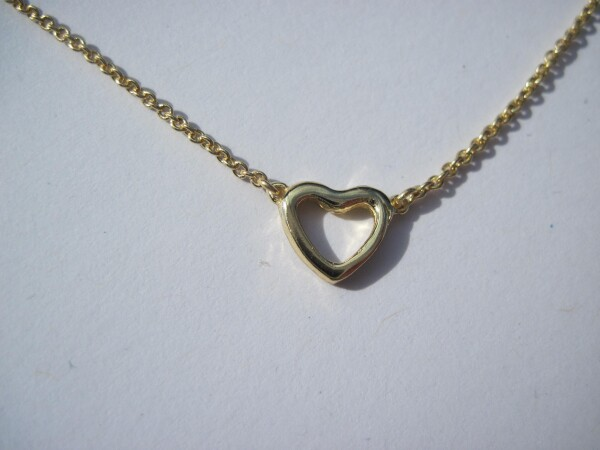 Gilded heart necklace | mancherlei