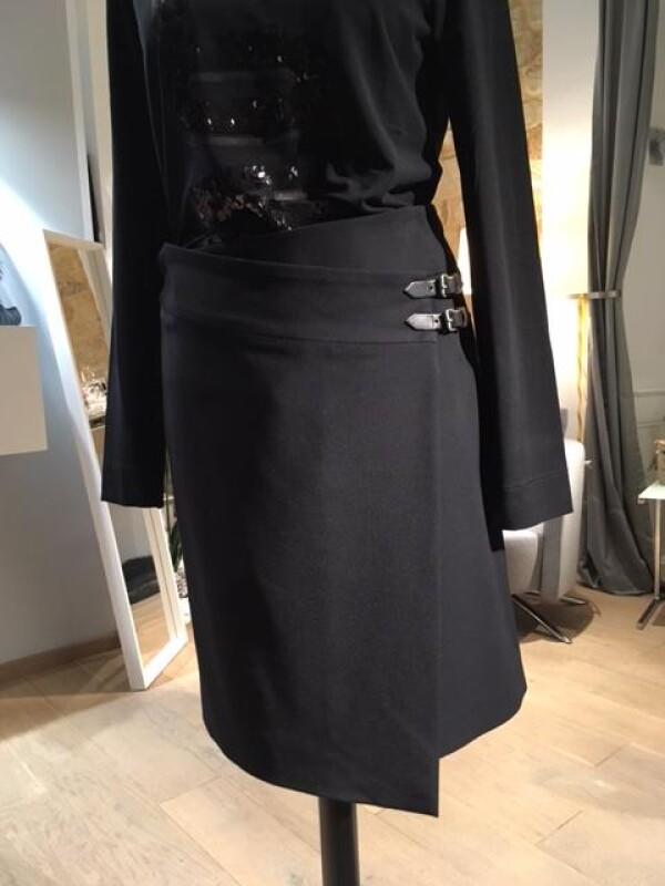Wrap skirt with buckles   Wiebelhaus SIMPLY WEAR