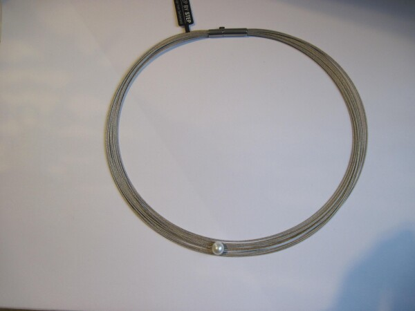 Multiple steel rope with real pearl | mancherlei