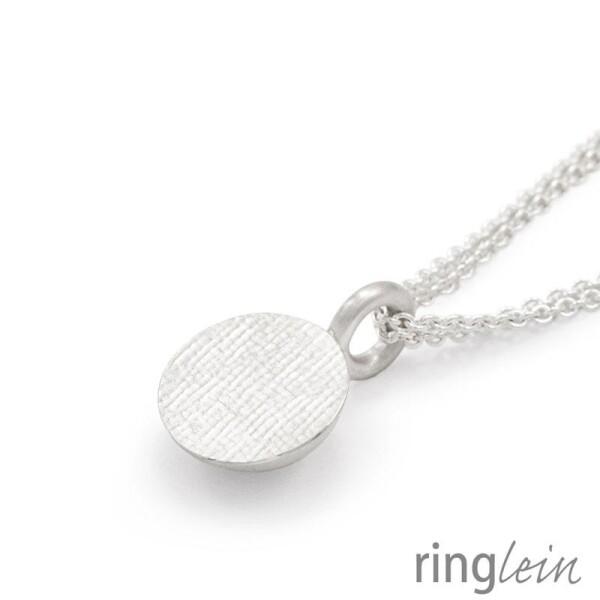Pendant silver ZOÉ with checkered structure | ringlein und noch mehr