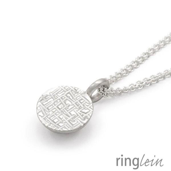 Pendant silver ZOÉ with hammered structure | ringlein und noch mehr