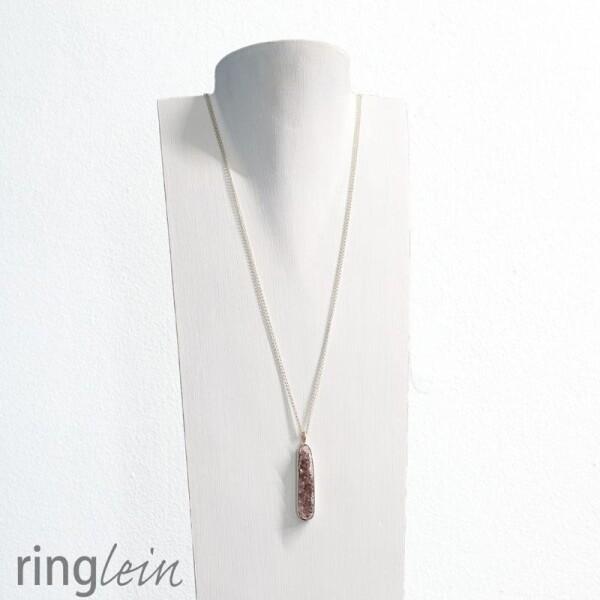 Pendant silver rose gold ISABEL crystalline agate | ringlein und noch mehr