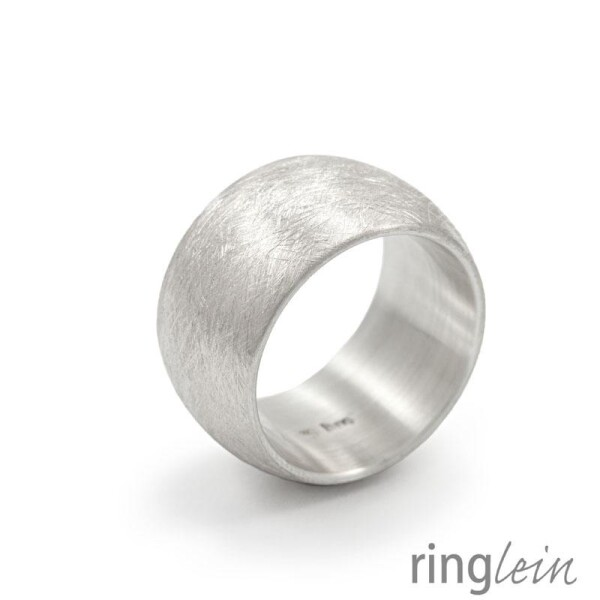 wide ring silver GILDA solid midi | ringlein und noch mehr
