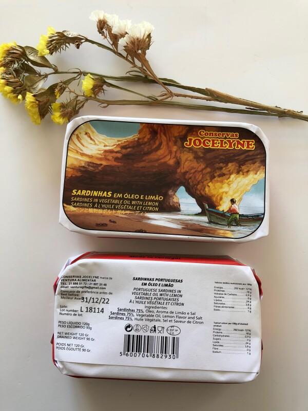 Sardines in Oil with Lemon - Jocelyne | Loja PortugueZa da Baixa