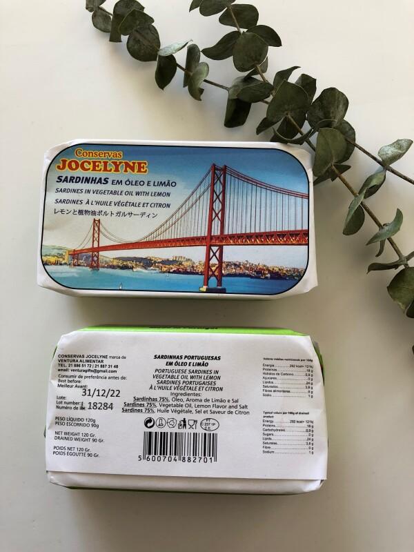 Sardines in Vegetable Oil with Lemon - Jocelyne | Loja PortugueZa da Baixa