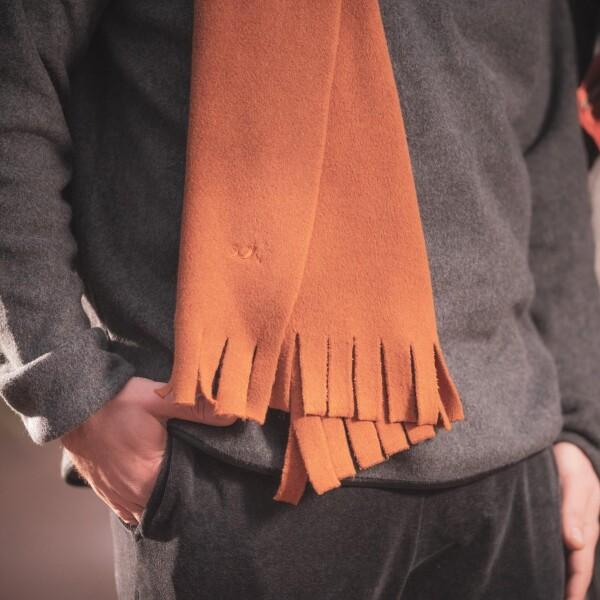 soki fleece scarf charcoal made of 100% organic cotton   soki Kassel