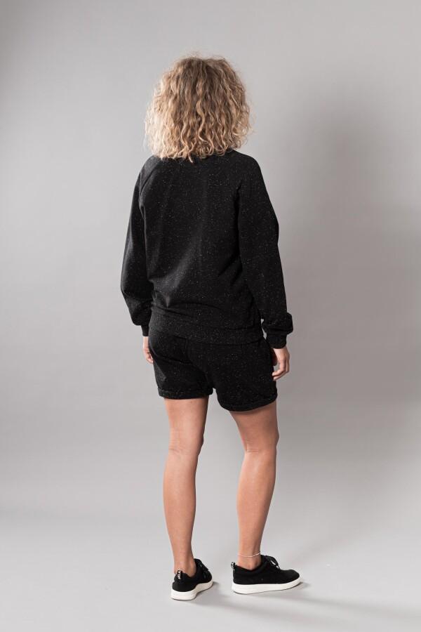 Training jacket made of organic cotton black | soki Kassel