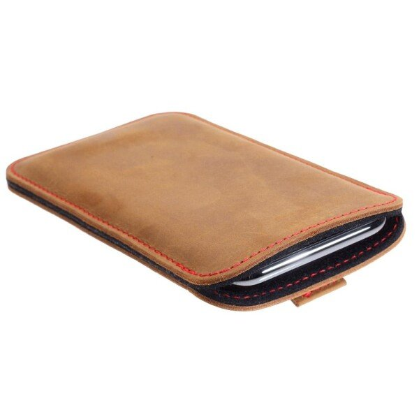 iPhone 11 leather case with pull tab   germanmade