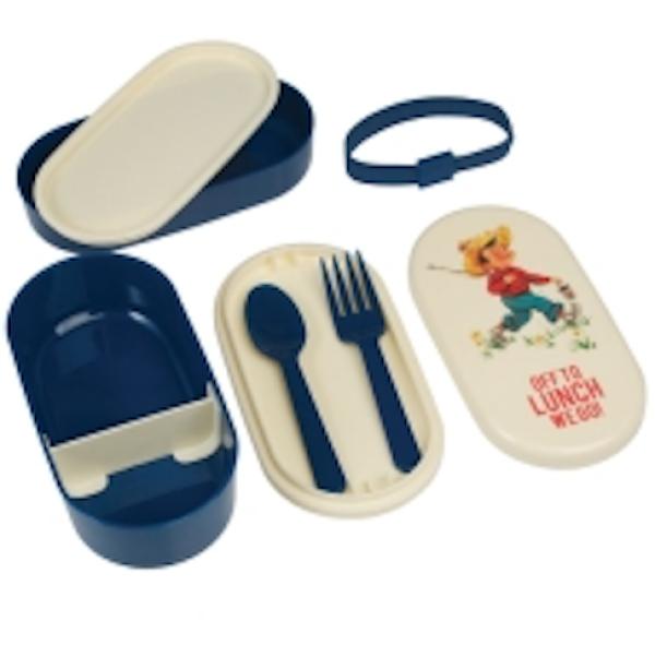 LUNCH BOX BENTO-BOX VINTAGE BOY lunch box | WohnGlanzVilla