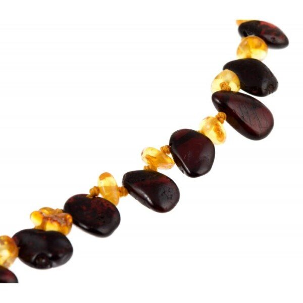 Black and Yellow Amber Necklace | BalticBuy