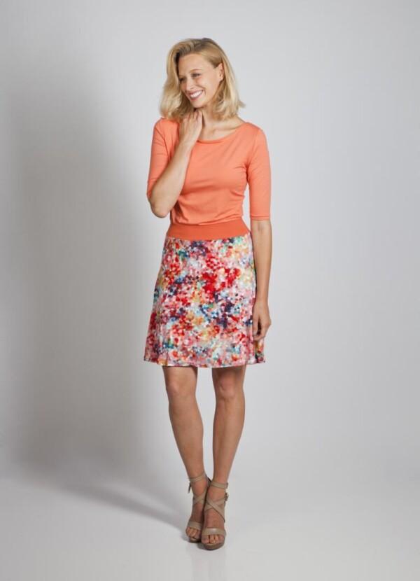Dress Calla living coral | kirsch-grün