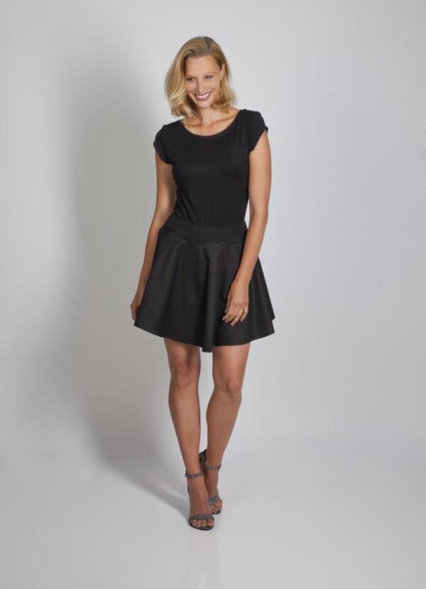 Mini dress Pippa made of cotton viscose black from cherry-green   kirsch-grün