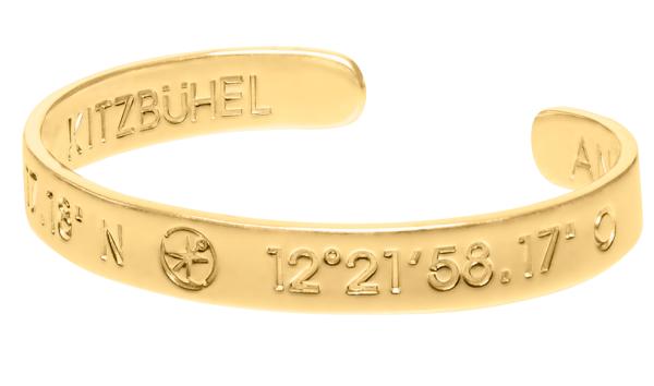 KITZBÜHEL coordinate bangle ladies gold plated | ANCRAGE
