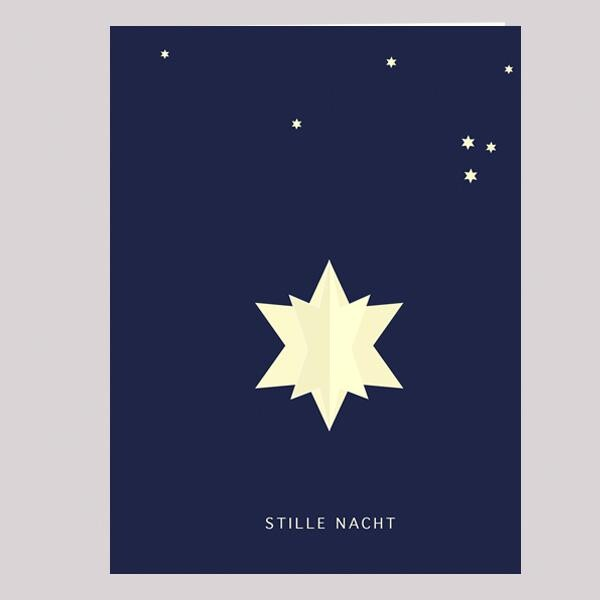 PopUp Christmas Card Silent Night   not the girl who misses much
