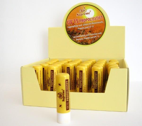 Lipstick Propolis UV15 Propolis stick Api Supreme 1 piece   Woidgold